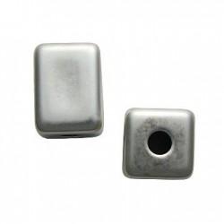 Ακρυλική Επιμεταλλωμένη Χάντρα Κύβος 20x28mm