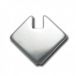 Passante Quadrato in Argentone CCB 27mm