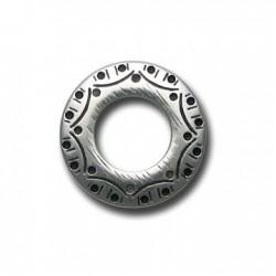 Passante Ciondolo Anello Decorato in Argentone CCB 31x21mm