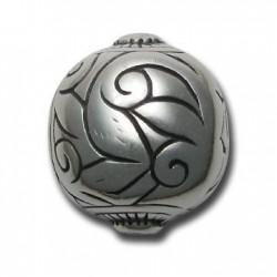 Perlina Decorata in Argentone CCB 38x33mm