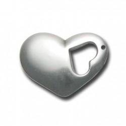 Ακρυλικό Επιμεταλλωμένο Μοτίφ Καρδιά 33x24mm