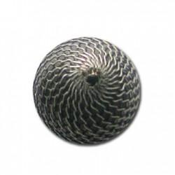 Perlina con Rettina in Argentone CCB 25mm