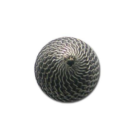 Ακρυλική Επιμεταλλωμένη Χάντρα με Δίχτυ 25mm
