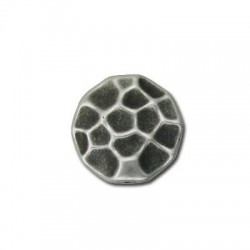 Ακρυλική Επιμεταλλωμένη Χάντρα Ακανόνιστη Πλακέ 28mm