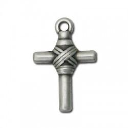 Ciondolo Croce in Argentone CCB 19x22mm