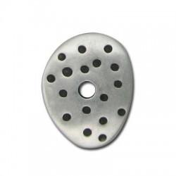 Passante Disco Maculato in Argentone CCB 25x32x4mm