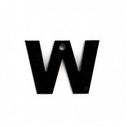 "Plexi Acrylic Pendant Letter ""W"" 19x13mm"