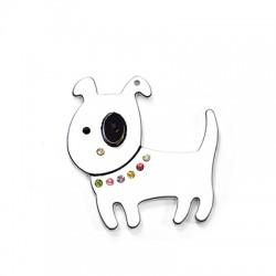 Πλέξι Ακρυλικό Μοτίφ Σκυλάκι με Στρας 54mm