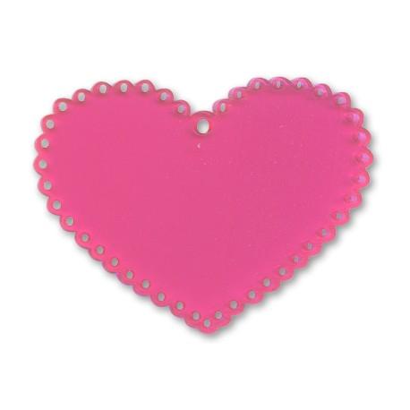 Plexiacrylic Heart 67x52mm
