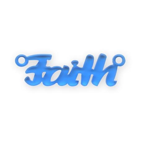 """Πλέξι Ακρυλικό Στοιχείο """"Faith"""" 46x15mm (Ø2.4mm)"""