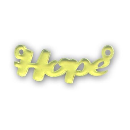 Plexiacrylic 'Hope' 47x20mm (Ø2.5mm)