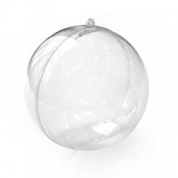 Πολυεστερική Μπάλα Διακοσμητική Ανοιγόμενη 120mm (2τμχ/Σετ)