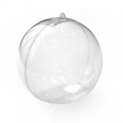 Polyester Deco Ball Openable 120mm (2pcs/Set)