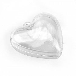 Polyester Deco Heart Openable 30x28mm (2pcs/Set)