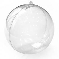 Πολυεστερική Μπάλα Διακοσμητική Ανοιγόμενη 200mm (2τμχ/Σετ)