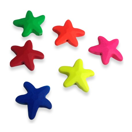Acrylic Rubber effect Star 21 / 7mm