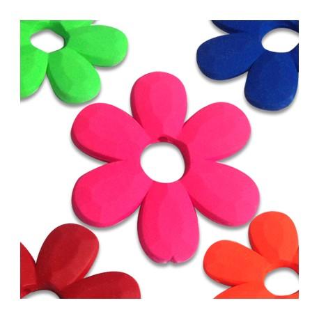 Acrylic Rubber effect Flower 33 / 4mm