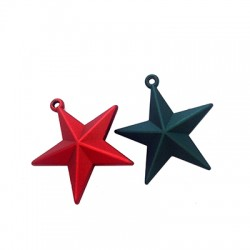 Actylic Pendant Star Rubber Effect 50mm