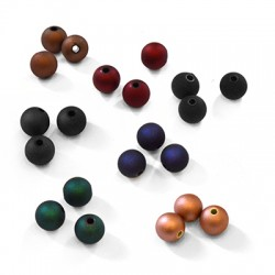 Acrylic Round Bead Rubber Effect 8mm