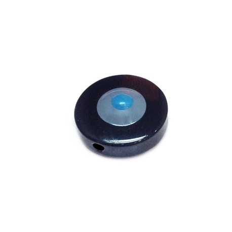 Perlina in Poliestere 24mm Con Occhio Smaltato