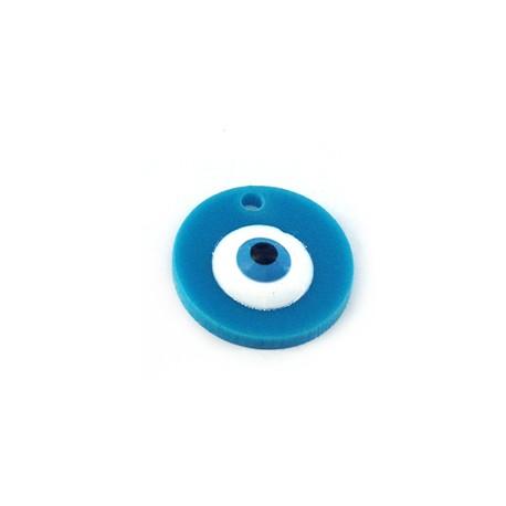 Plexi Acrylic Charm Round with Eye 17mm (Ø 1.8mm)
