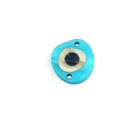 Plexi Acrylic Connector Irregular Enamel Eye 15x14mm