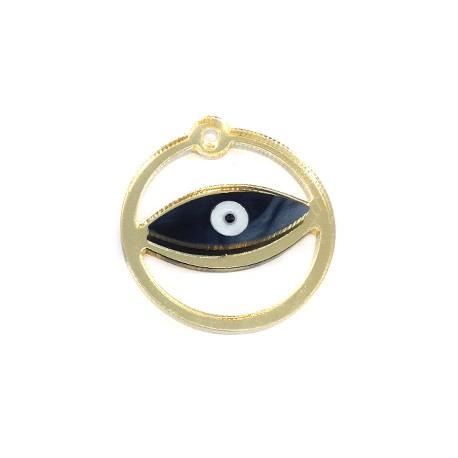 Plexi Acrylic Pendant Round Evil Eye