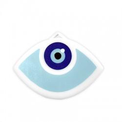 """Plexi Acrylic Lucky Pendant Eye """"2019"""" 90x48mm"""
