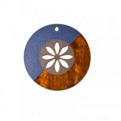 Plexi Acrylic Pendant Round Flower 60mm