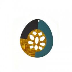 Plexi Acrylic Pendant Oval 60x70mm