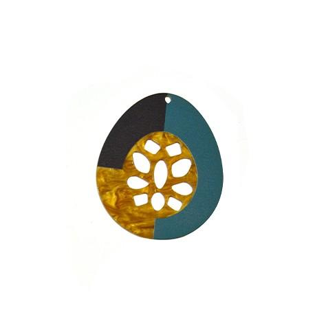 Ciondolo in Plexiacrilico Goccia 60x70mm