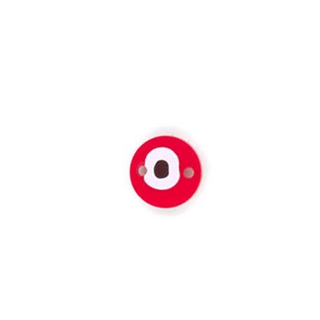 Connettore in Plexiacrilico Rotondo con Occhio Portafortuna dipinto 15mm