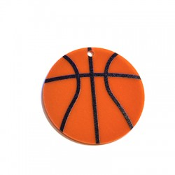 Plexi Acrylic Pendant Basket Ball 50mm