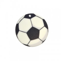 Plexi Acrylic Pendant Football 50mm