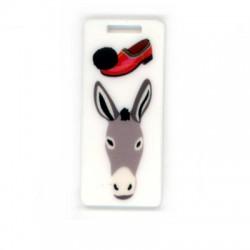 Plexi Acrylic Tag Donkey Shoe 24x55mm