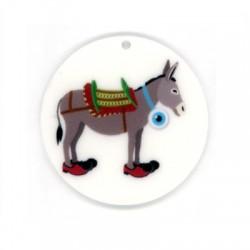 Plexi Acrylic Pendant Donkey Eye 45mm