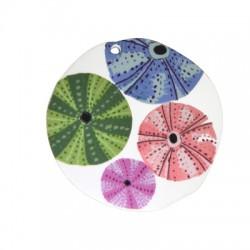 Ciondolo in Plexiacrilico Rotondo con Ricci di Marei Dipinti 50mm