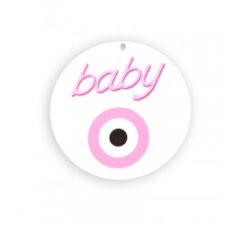 Plexi Acrylic Round Pendant Baby w/ Eye 80mm