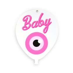 Plexi Acrylic Balloon Pendant Baby w/ Eye 65x85mm