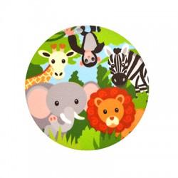 Ciondolo in Plexiacrilico Rotondo con Animali dipinti 60mm