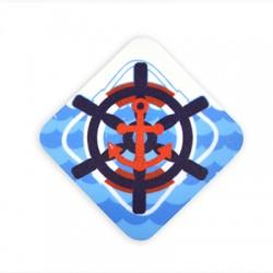 Plexi Acrylic Magnet Rhomvus Anchor 60mm
