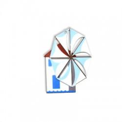 Plexi Acrylic Pendant Windmill 49x65mm