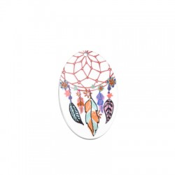 Plexi Acrylic Pendant Oval Dreamcatcher 41x60mm
