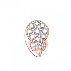 Ciondolo in Plexiacrilico Ovale 41x60 con Disegno Acchiappasogni