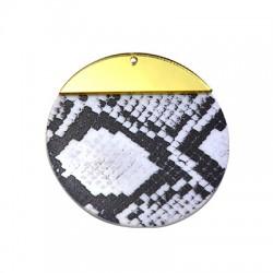 Ciondolo in Plexiacrilico 50mm con Effetto Pelle Serpente dipinto