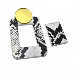 Plexi Acrylic Pendant Rectangular 39x62mm + 19x27mm (Set)