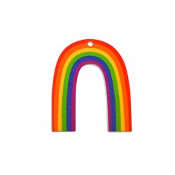 Plexi Acrylic Charm Rainbow 40x52mm