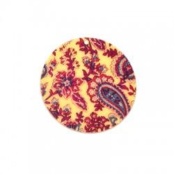 Πλέξι Ακρυλικό Μοτίφ Στρογγυλό Λουλούδια 55mm
