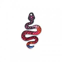 Plexi Acrylic Charm Snake 24x40mm