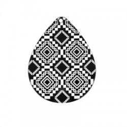 Plexi Acrylic Pendant Drop Rhomvus 46x60mm